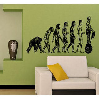 Evolution evolutionary chain Segway Wall Art Sticker Decal