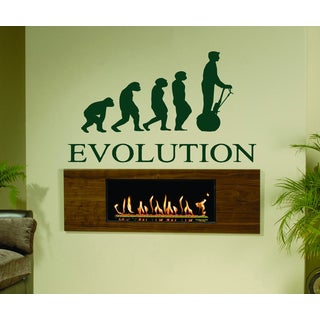 Evolution evolutionary chain Segway Kids Wall Art Sticker Decal Green