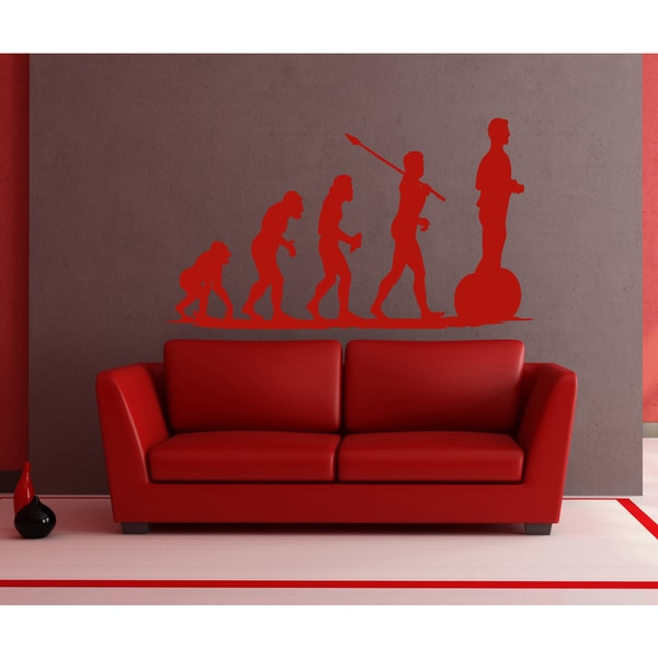 Evolution evolutionary chain Segway Civilization Kids Wall Art Sticker Decal Red