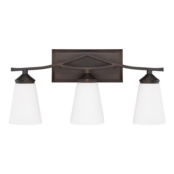 Bathroom Vanity Light On Sale: Shop Capital Lighting Boden Collection 3-light Burnished