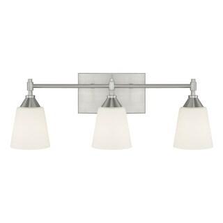 Capital Lighting Langley Collection 3-light Brushed Nickel Bath/Vanity Light