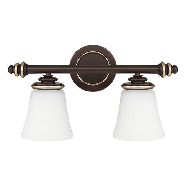 Shop capital lighting asher collection 2 light champagne - Champagne bronze bathroom vanity light ...