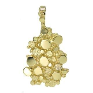 Men's 14k Yellow Gold Nugget Pendant Charm|https://ak1.ostkcdn.com/images/products/11682579/P18609488.jpg?impolicy=medium