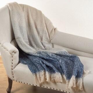 Faux Mohair Ombré Throw Blanket