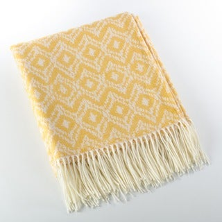Jacquard Design Throw Blanket