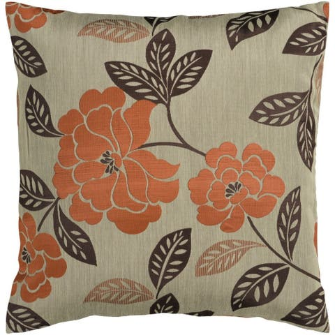 Decorative Goole 18-inch Feather Down/Polyester Filled Throw Pillow