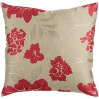 Decorative Getafe 18-inch Feather Down/Polyester Filled Throw Pillow