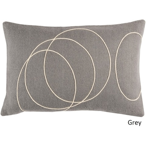 Decorative Liana Feather Down/Polyester Filled Throw Pillow (13 x 19)