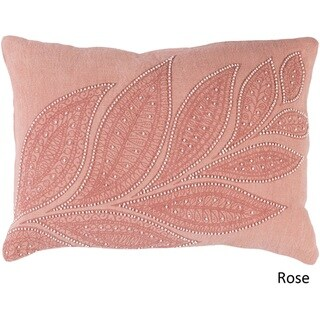 Decorative Leigh Down/Polyester Filled Throw Pillow (13 x 19)