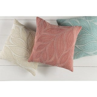 Decorative Leigh 18-inch Feather Down/Polyester Filled Throw Pillow
