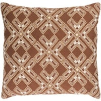Decorative Lauren 18-inch Feather Down/Polyester Filled Throw Pillow