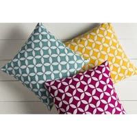 Decorative Kristen 18-inch Feather Down/Polyester Filled Throw Pillow
