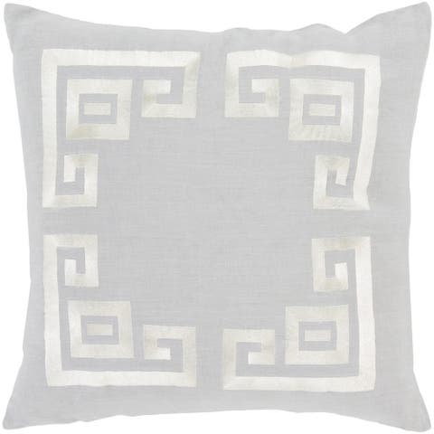 Decorative Kourou 18-inch Feather Down/Polyester Filled Throw Pillow