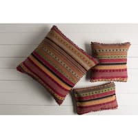 Decorative Isamu 20-inch Feather Down/Polyester Filled Throw Pillow
