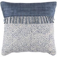 Decorative Hollywood 20-inch Feather Down/Polyester Filled Throw Pillow