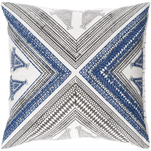Decorative Lizze 18-inch Feather Down/Polyester Filled Throw Pillow