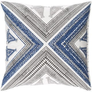 Decorative Lizze 18-inch Down/Polyester Filled Throw Pillow