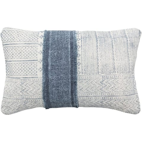 Decorative Hilton Feather Down/Polyester Filled Throw Pillow (22 X 14)