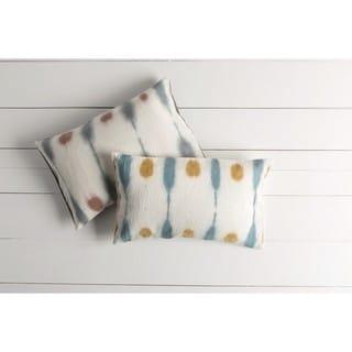 Decorative Hazebrouck Down/Polyester Filled Throw Pillow (22 X 14)