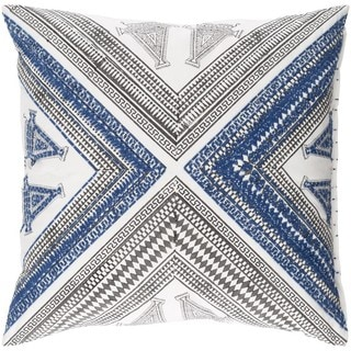 Decorative Lizze 20-inch Down/Polyester Filled Throw Pillow