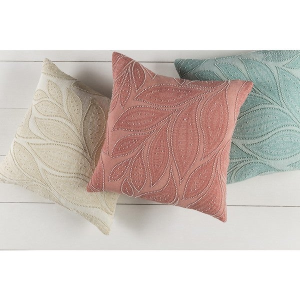 Decorative Leigh 20-inch Feather Down/Polyester Filled Throw Pillow