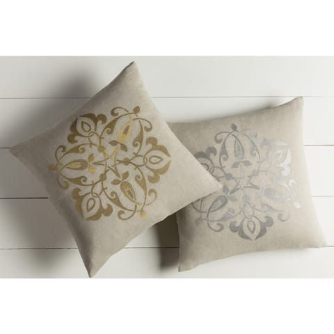 Decorative La Rochelle 20-inch Feather Down/Polyester Filled Throw Pillow