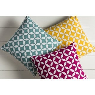 Decorative Kristen 22-inch Down/Polyester Filled Throw Pillow