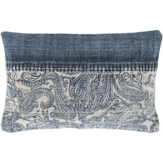 Decorative Kamora Feather Down/Polyester Filled Throw Pillow (22 X 14)