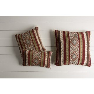 Decorative Jo Feather Down/Polyester Filled Throw Pillow (22 X 14)
