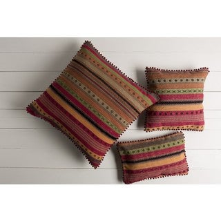 Decorative Isamu Down/Polyester Filled Throw Pillow (22 X 14)