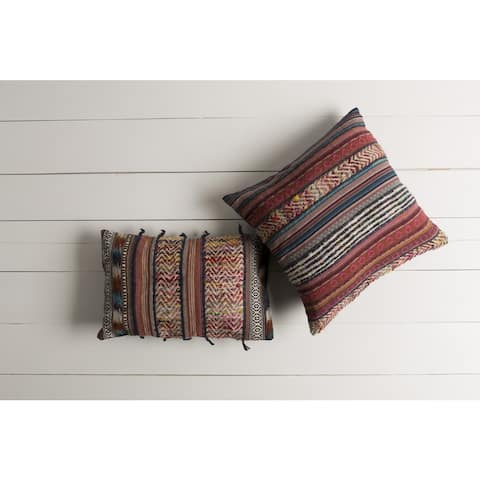 Decorative Intect Feather Down/Polyester Filled Throw Pillow (22 X 14)