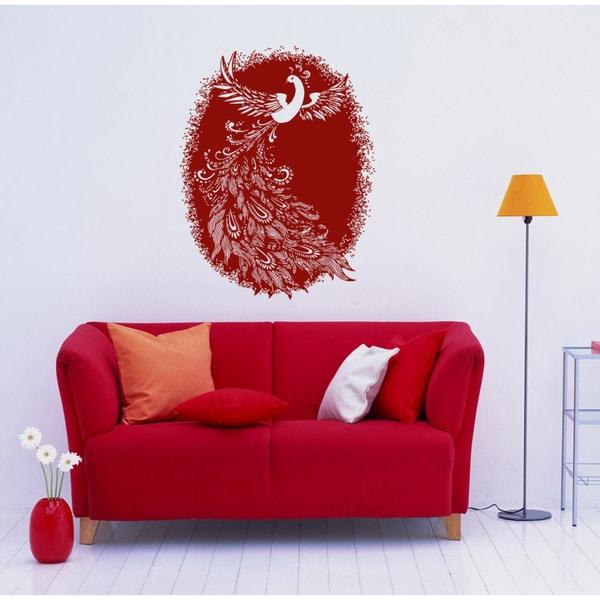 Firebird beautiful bird animals Wall Art Sticker Decal Red