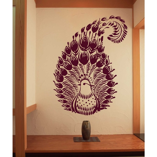 Firebird beautiful bird animals Wall Art Sticker Decal Red