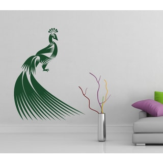 Firebird peacock beautiful bird Wall Art Sticker Decal Green