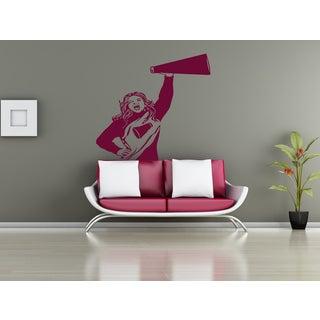 Girl cheerleader football Wall Art Sticker Decal Pink