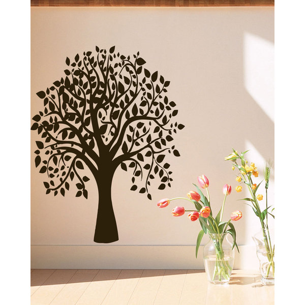 Nature tree leaves Wall Art Sticker Decal Brown
