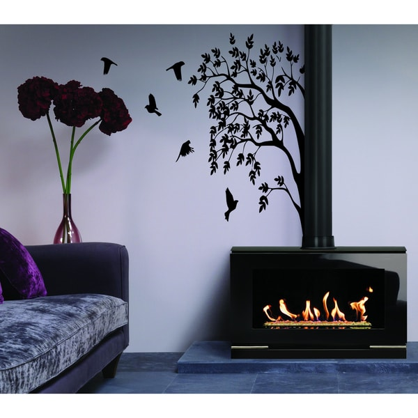Nature tree bird Wall Art Sticker Decal