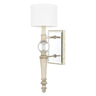 Capital Lighting Carlyle Collection 1-light Gilded Silver Wall Sconce