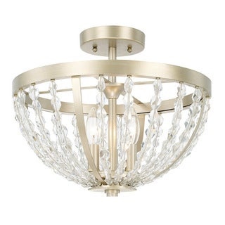 Capital Lighting Camille Collection 3-light Soft Gold Semi-Flush Mount