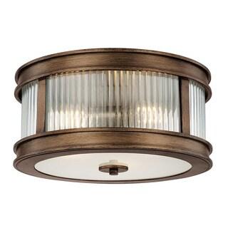 Capital Lighting Reid Collection 3-light Rustic Flush Mount