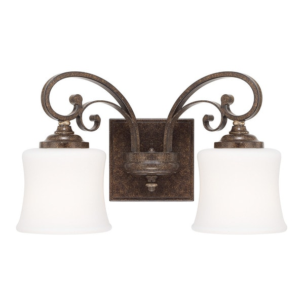 Capital Lighting Kingsley Collection 2-light Dark Spice Bath/Vanity Light