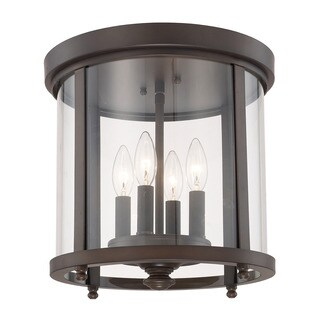 Capital Lighting Capital Ceilings Collection 4-light Burnished Bronze Flush Mount