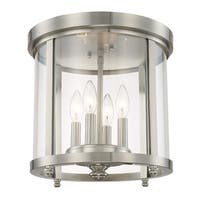 Capital Lighting Capital Ceilings Collection 4-light Brushed Nickel Flush Mount