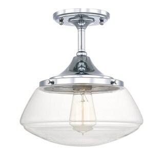 Capital Lighting Schoolhouse Collection 1-light Chrome Flush Mount