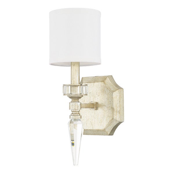 Capital Lighting Olivia Collection 1-light Winter Gold Wall Sconce  sc 1 st  Overstock.com & Shop Capital Lighting Olivia Collection 1-light Winter Gold Wall ...