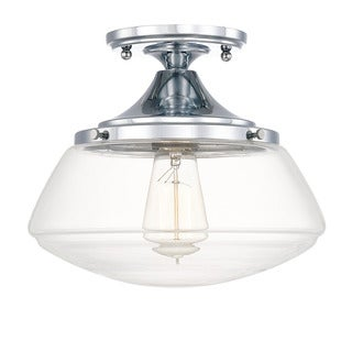 Capital Lighting Schoolhouse Collection 1-light Chrome Flush Mount