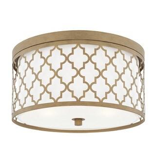 Capital Lighting Ellis Collection 3-light Brushed Gold Flush Mount