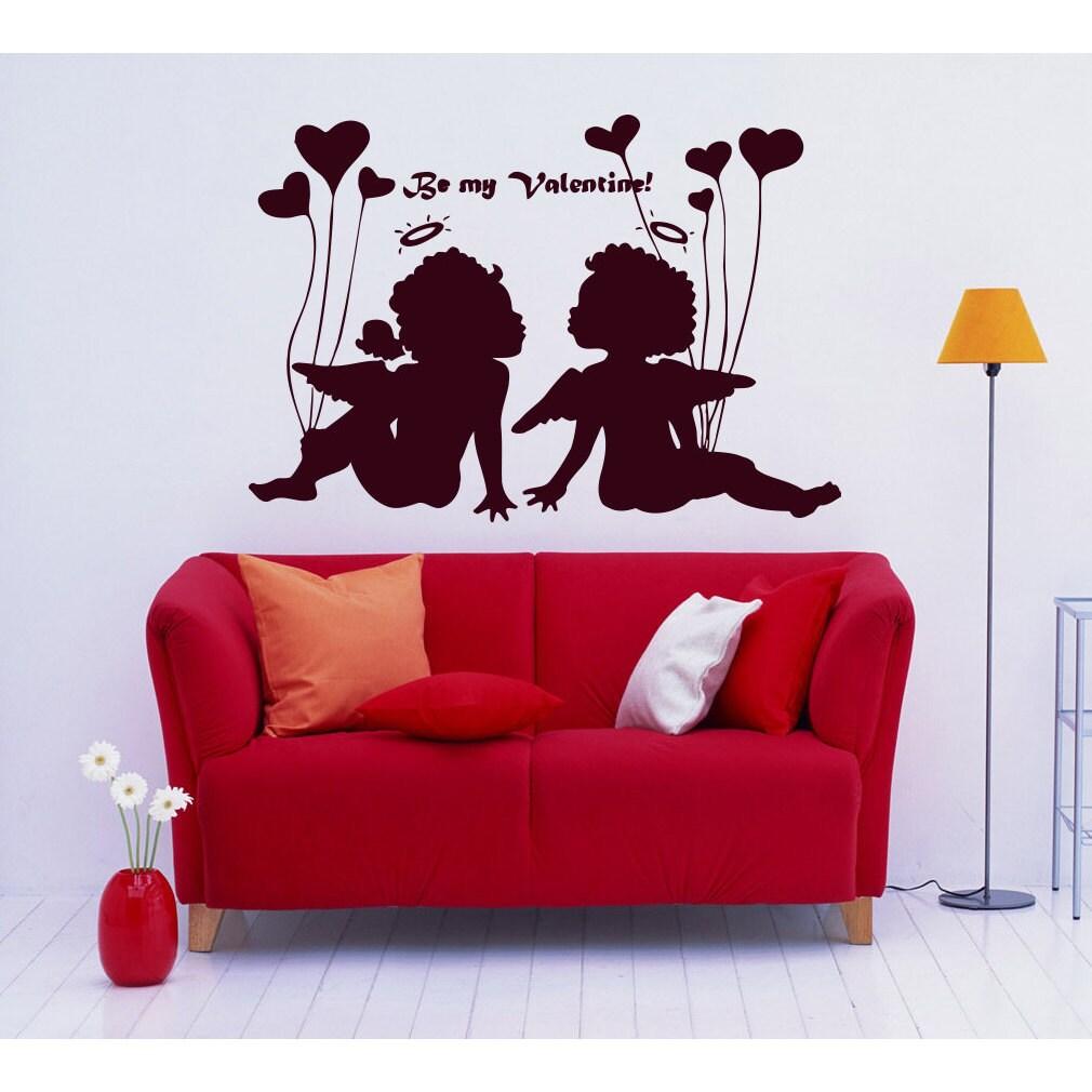Cupids angel wings heart arrow of Love Balloons Wall Art ...