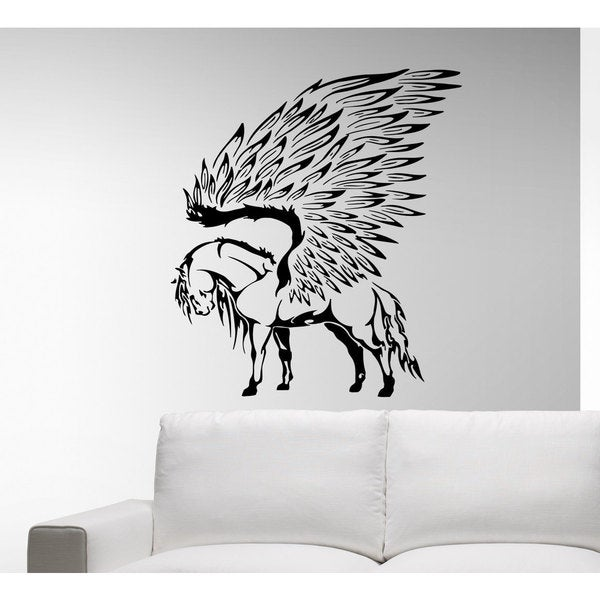 shop horse wings animal magic wall art sticker decal - free shipping