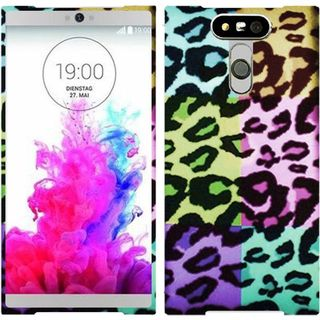 Insten Colorful Leopard Hard Snap-on Rubberized Matte Case Cover For LG G5